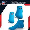Lxt Blue Compression Sports Socks For Skating