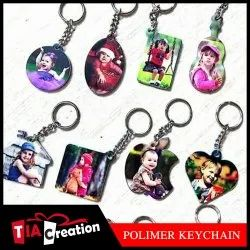 Gloss White Wooden Key Chain Sublimation