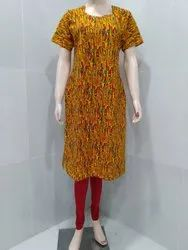 4 Colors Available A-Line Printed Feeding Kurtis