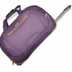 Violet Polyester Luggage Trolley Bag