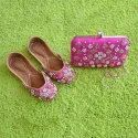 Magenta Punjabi Jutti with Matching Clutch