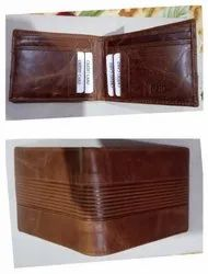Rfid protected wallet crunch leather