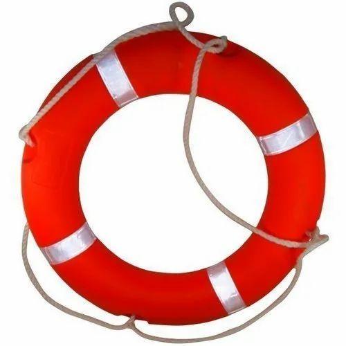 Red Plastic Marine Safety Lifebuoy, Round, Rs 2500 /unit Vishawkarma  Industries | ID: 12659034662