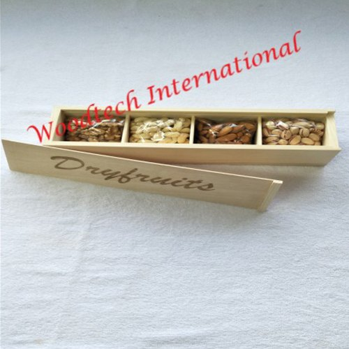 Rectangular Wooden Dry Fruit Box