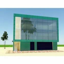 Front Elevation ACP Glass Glazing Fabrication Work, Tamil Nadu