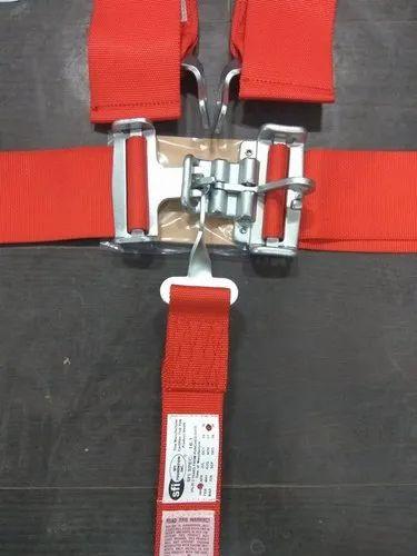 4 POINT RACING HARNESS SFI LATCH /& LINK 2/'/' SEAT BELT GRAY