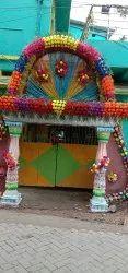 Gate flower decoration