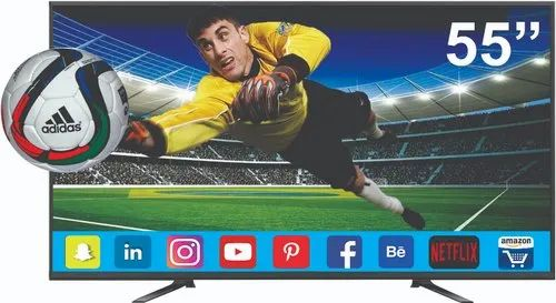 55 Inch Smart Frameless 4k LED TV