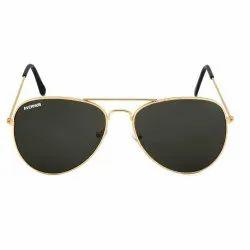 Golden Frame Aviator Sunglasses