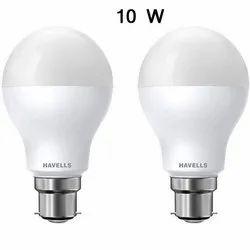 Ceramic 10 W Havells LED Bulb