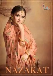 Najakat-Shree Fab Pure  Dola Silk Jacquard With Work Traditional Salwar Suits