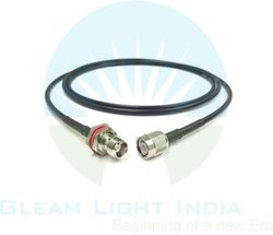 RF Cable Assembly TNC Male to TNC Male Bulk Head in RG58