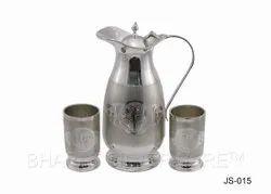 Pure Silver Engraved Jug Set