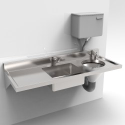 Stainless Steel Sluice Sink with Sloppy Hopper