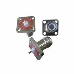 TNC Connector Female 4Hole Square Flange Straight For Panel Mount