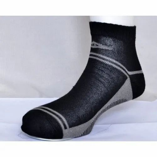 Mens Black Cotton Socks