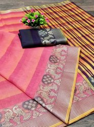 Zari Party wear Cotton Silk Saree