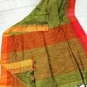 Temple Border Khadi Cotton Handloom Sarees