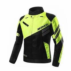 Green Round Gabroo Automobiles Scoyco Male Riding Jacket, Size: Medium