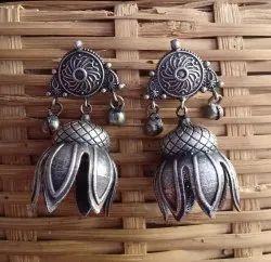 22 gm Silver Look Alike Brass Earrings