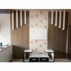 White Wall Mounted Modular PVC TV Unit, For Home & Hotel