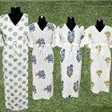 Hand Block Printed Cotton Kaftan Dress