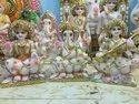12 Inch Marble Laxmi Ganesh Saraswati Statue