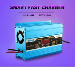 30A Battery Charger 12V Automatic Car Battery Charger With Engine Start Function
