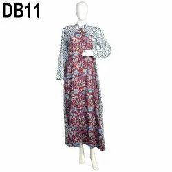 10 Cotton Hand Printed Women's Long Dress India DB11