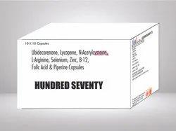 Ubidecarenone N Acetylcysteine L Arginine Selenium Zinc B 12 & Folic Acid