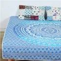 Indian Patch Mandala Cotton Queen Quilted Quilt Decor
