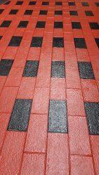 Rock Paver Red Black Combination for Landscaping, Thickness: 65mm
