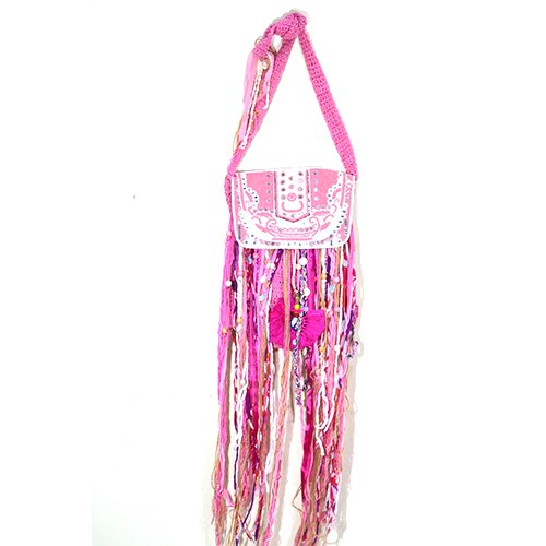Pink Embroidered Bag