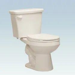 Cream Ceramic Western Toilet Seat, Packaging Type: Box
