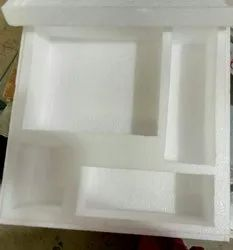 White Rectangular Packaging Thermocol Boxes, Density: 12