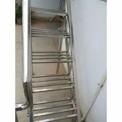 Straight Run 202 Stainless Steel Stair
