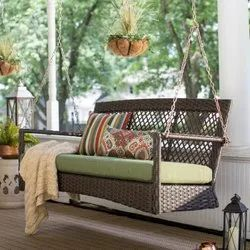 Rattan Two Seater Swing