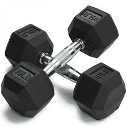 SS Fit , Steel Rubber Coated Bouncer Dumbbells, Fixed Weight, weight 10 lb
