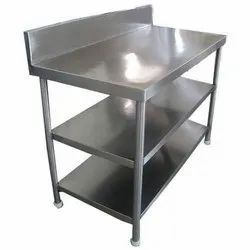 Rectangular Powder Coated Stainless Steel Work Table