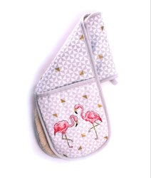 Tropical Flamingo Double Oven Glove