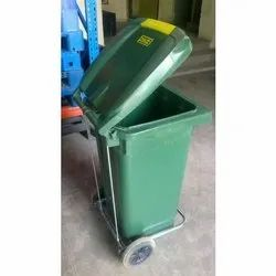 Ercon  Plastic Wheel Bins With Foot Pedal