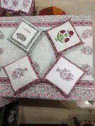 Mugal Buta Floral Block Printed Cotton Cushion Cover Hidden Zipper Cushion Cover Set