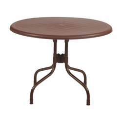 Plastic Brown Cafeteria Table For Hotel, Restaurants