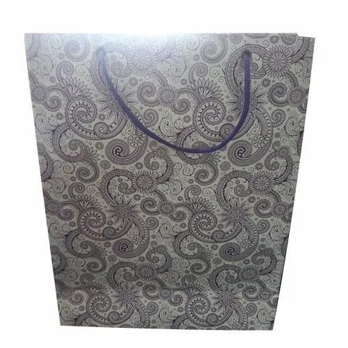 Customized Printed Paper Bag, For Shopping, Capacity: 2kg
