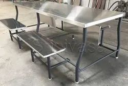 SS Canteen Folding Dining Table