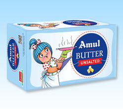 Amul Unsalted Butter, Packaging Type: Carton