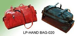 Red And Chocolaty Color Leather LP- Hand Bag - 020